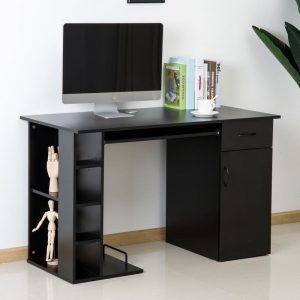 mesa de ordenador negra