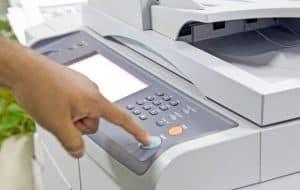 botones de una fotocopiadora