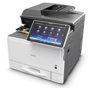 fotocopiadora con pantalla grande