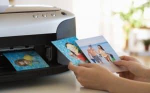 imágenes impresas con una impresora