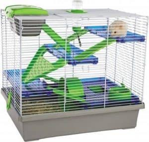 jaula de hamster con accesorios