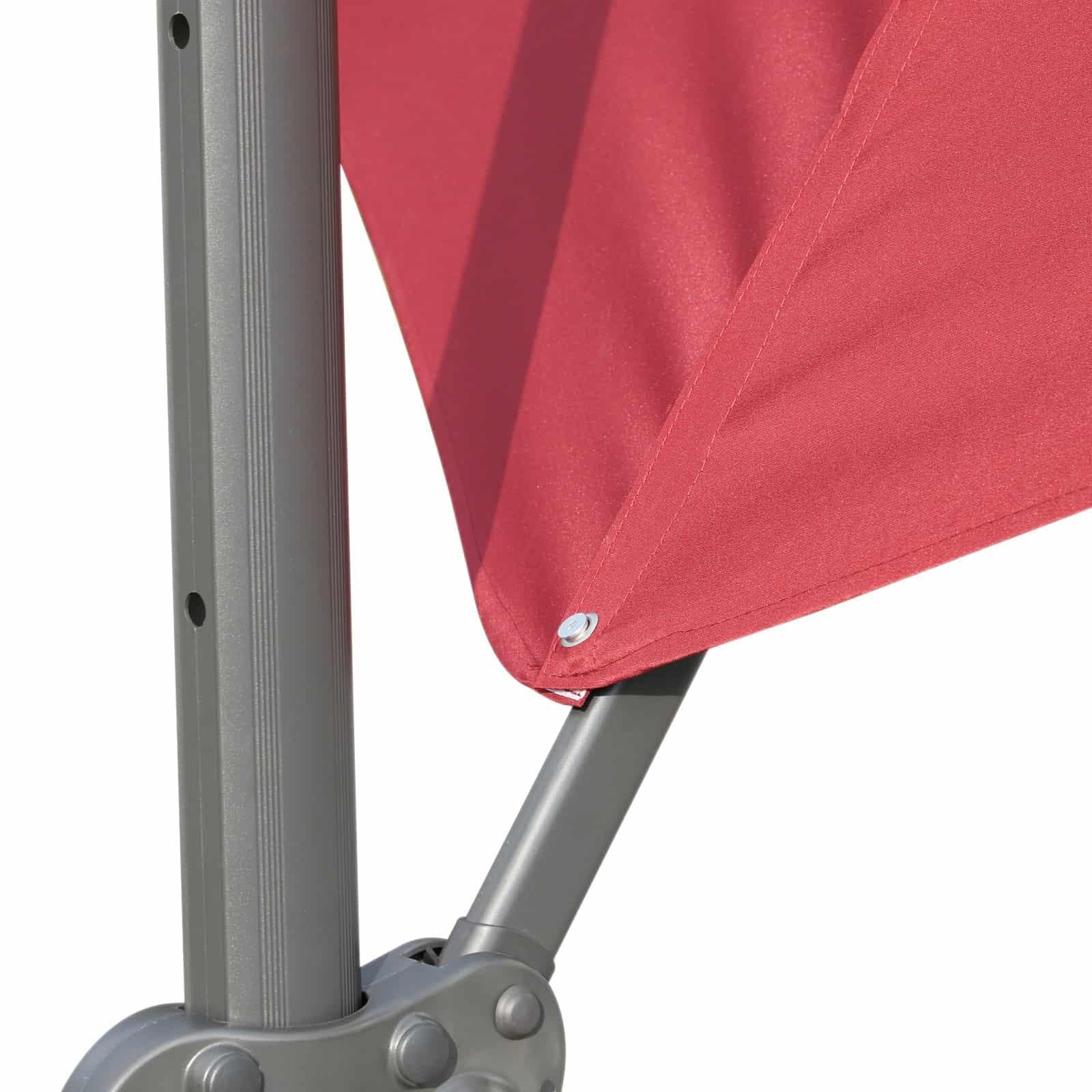 parte de un parasol excéntrico