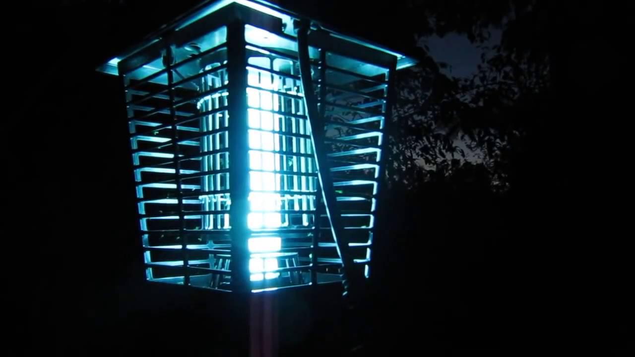 lampara anti insectos de noche