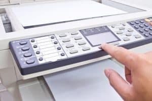 botones de una fotocopiadora de cerca