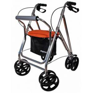 andador con cuatro ruedas
