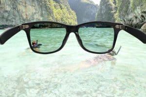 visión a través de unas gafas de sol polarizadas