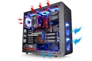 ventilación de un ordenador de sobremesa
