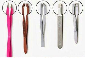 pinzas de depilar con diferentes puntas