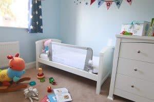 barrera de cama para bebé de calidad