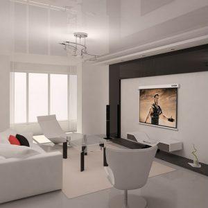 pantalla de proyección en un salón