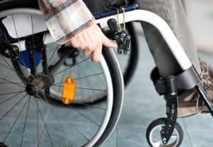 silla de ruedas de cerca