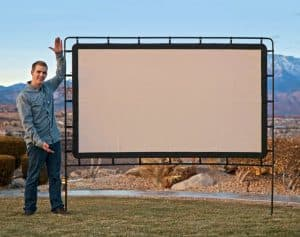 pantalla de proyección muy grande