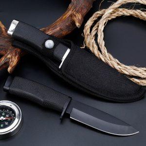 cuchillo de supervivencia y cuchillo con funda