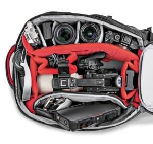 mochila para cámara y dron