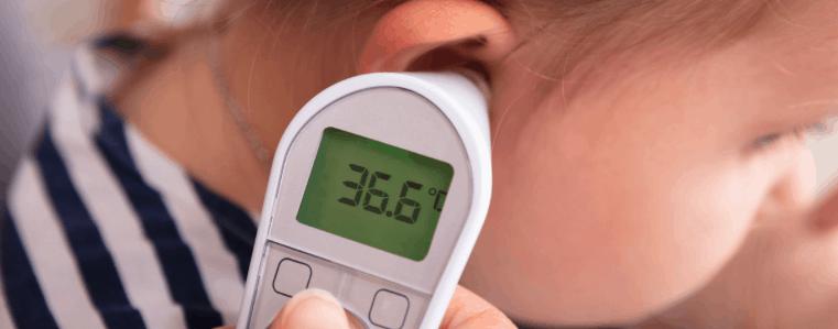 termómetro de oído para niños