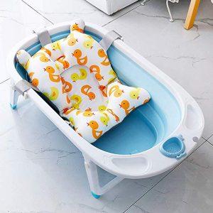 bañera para bebé con acolchado