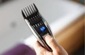 pantalla de una máquina de cortar el pelo