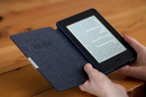 lector electrónico de libros con funda