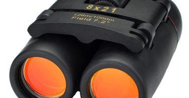 prismáticos con lentes naranjas