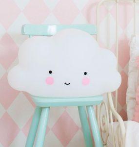 luz de noche para bebé con forma de nube