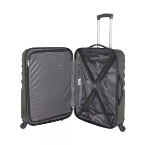 equipaje blando abierto