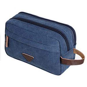 bolsa de aseo de viaje azul