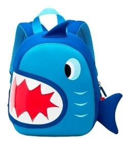 mochila infantil azul