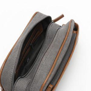 bolsa de aseo de viaje gris