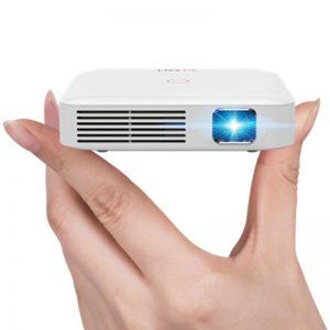 mini proyector blanco