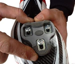 enganche de zapatillas de ciclismo