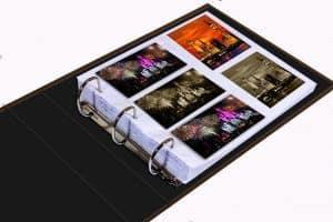 álbum de fotos con anillas