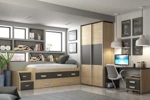 armario con puerta corredera pequeño en habitación