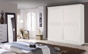 armario con puerta corredera blanco