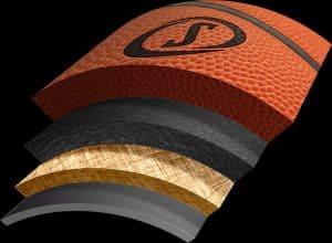 materiales de un balón de baloncesto