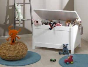 baúl para juguetes blanco