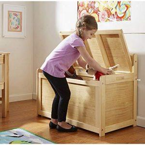 baúl para juguetes de madera