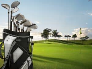 bolsa de palos de golf con palos