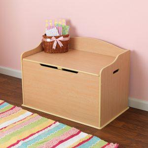 baúl para juguetes de madera pequeño