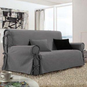 funda para sofá gris