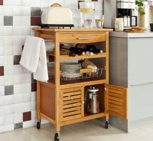 carro de cocina de madera