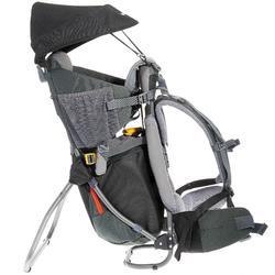 compartimento de una mochila de senderismo