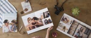 varios álbumes de fotos