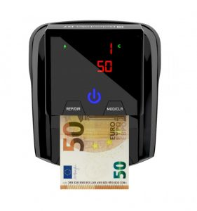 detector de billetes falsos negro