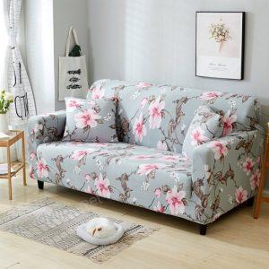 funda para sofá con estampado de flores