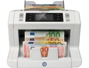 detector de billetes falsos con varios billetes
