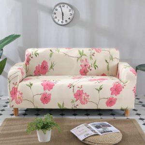 funda para sofá con flores