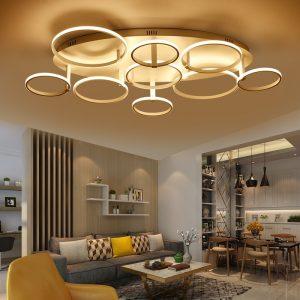 lámpara de salón de círculos