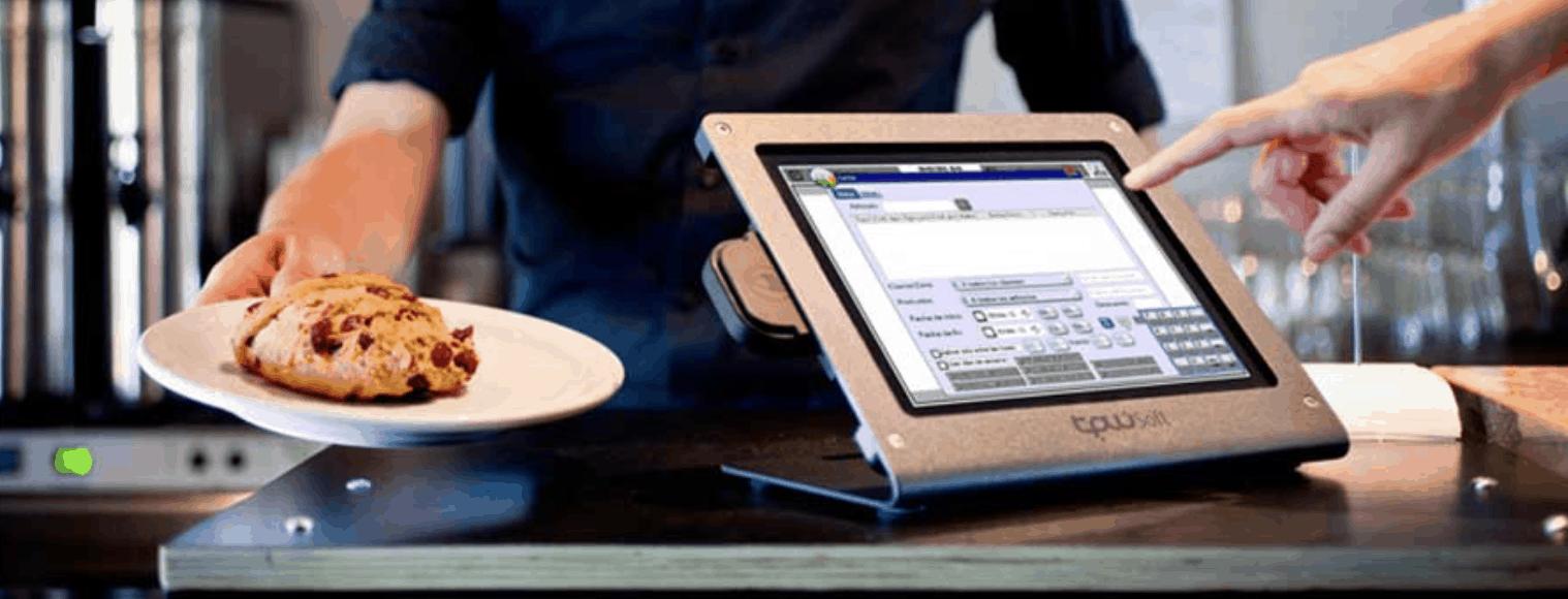 caja registradora con pantalla táctil