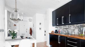 lampara araña en la cocina