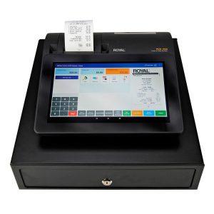 caja registradora con pantalla grande